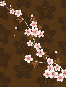 Petals on Brown