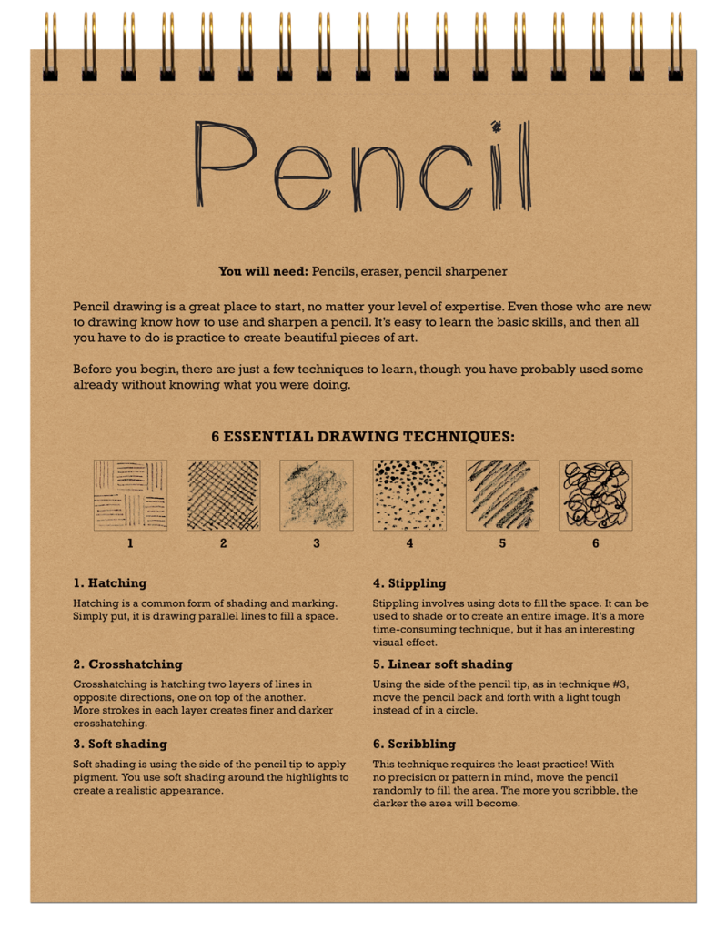 8-in-1 Sketchbook Pencil