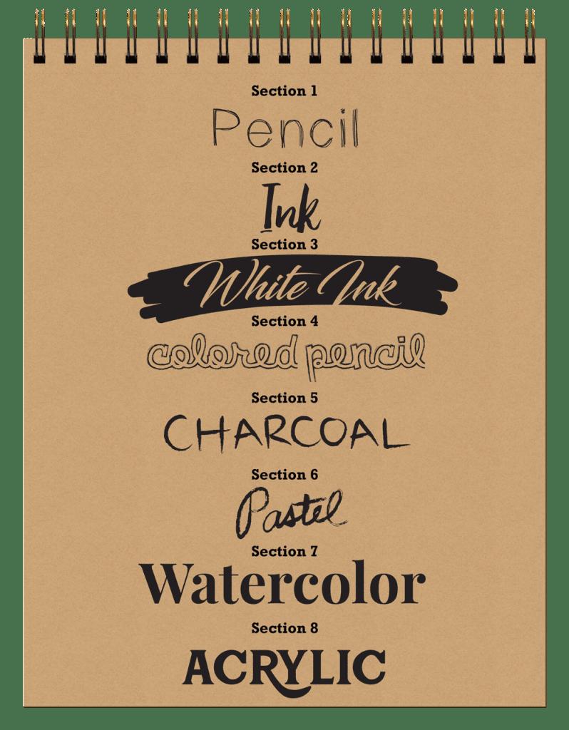 8-in-1 Sketchbook Sections
