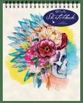 Floral Skull Top Spiral