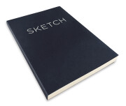 Open Bound Sketchbook – side angle view
