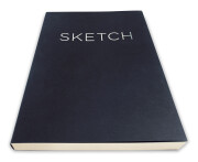 Open Bound Sketchbook – front angle view