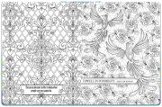 Inspirational Coloring Book – Inside Page Spread