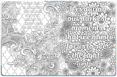 Coloring Pages With Inspirational Quotes - Piccadilly