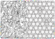 Relaxation Coloring Book – Inside Page Spread