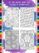 Relaxation Coloring Book – Inside Page Examples