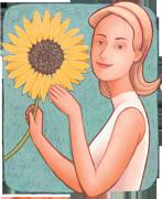 Woman's Reflection Journal – Sunflower