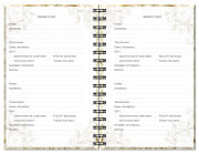 Wedding Journals – Guest List Pages