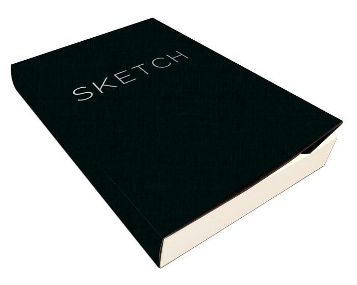 open bound sketchbook