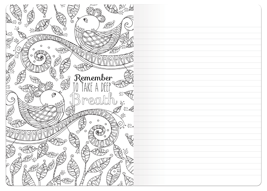 Coloring Book Journal Spread 3