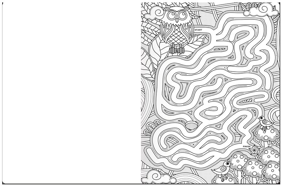 A-Maze-Ing Coloring Book Maze Example 1