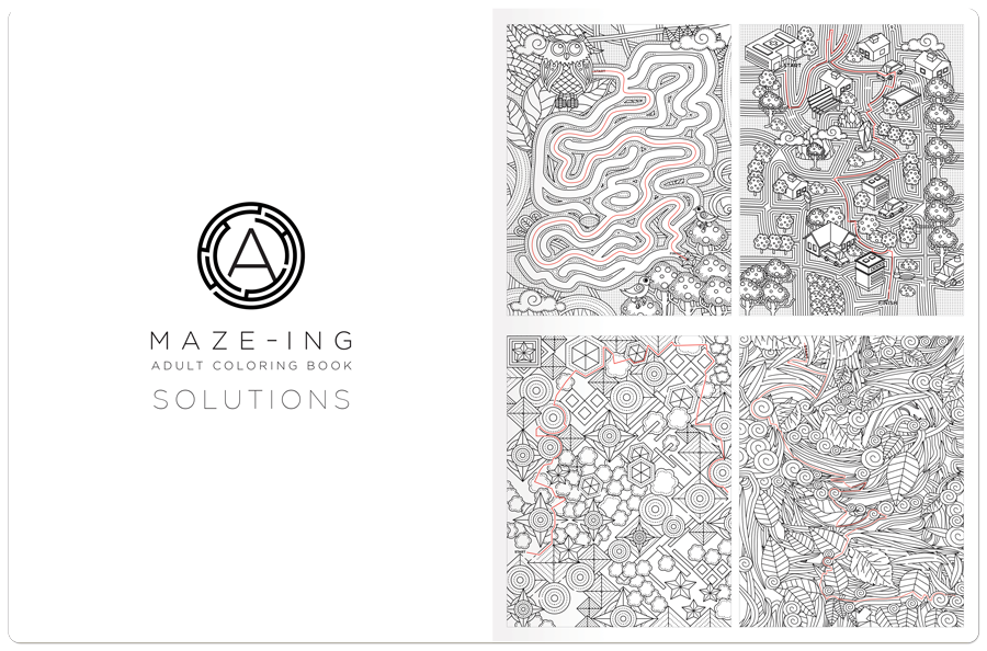 A-Maze-Ing Coloring Book Solution Example 1