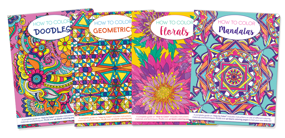 How-to-Color: 4-series Coloring Books