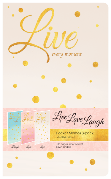 Live Love Laugh Pocket Memos