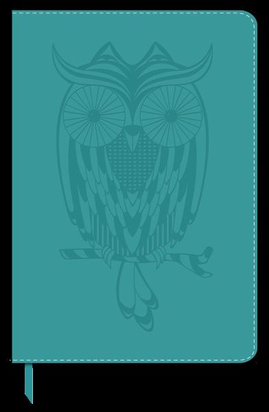 Owl Debossed Leatherlook
