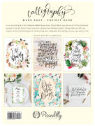 Calligraphy Made Easy: Project Book – Back Cover