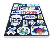 Sketch Your Sticker – front angle view