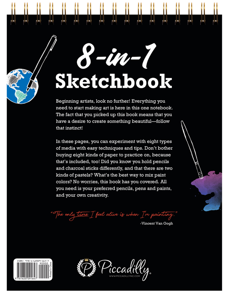 8-in-1 Sketchbook Back Cover