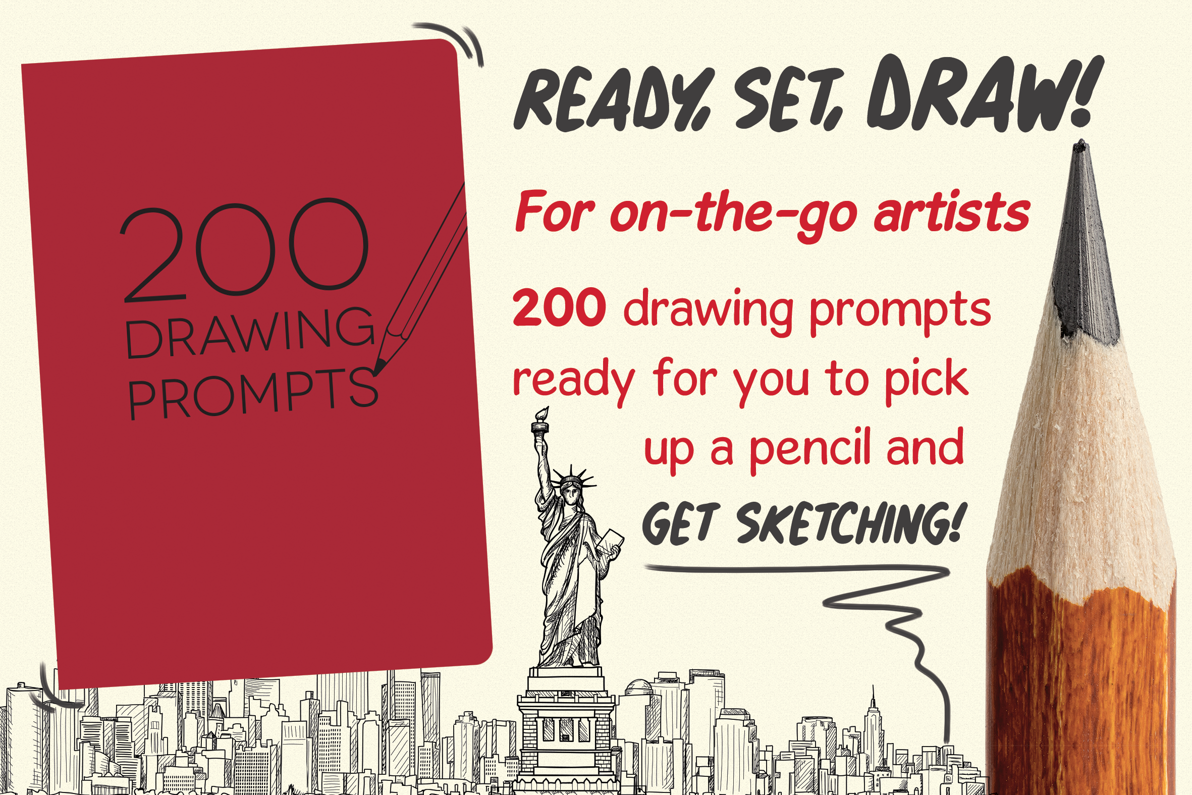 200 Drawing Prompts Graphic