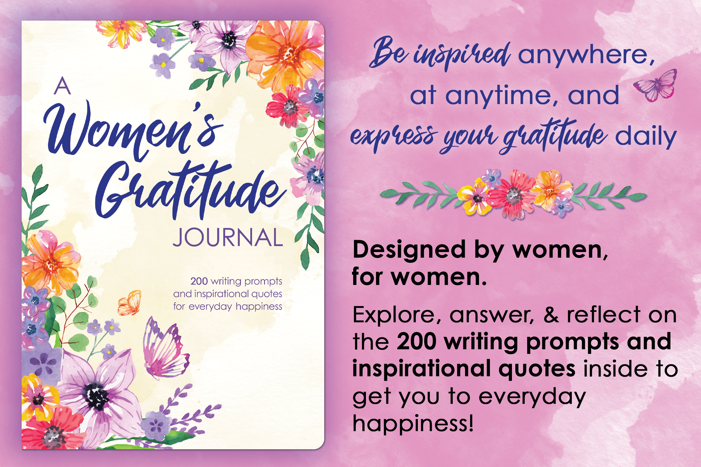 A Women's Gratitude Journal Main Graphic