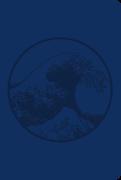 Soft Leatherlook Blue-Debossed