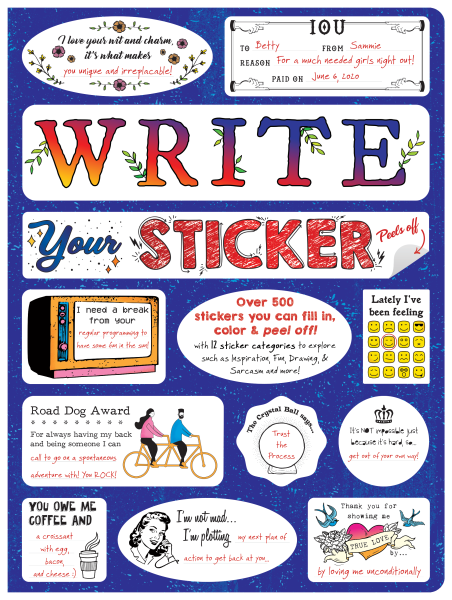 Write Your Sticker front cover