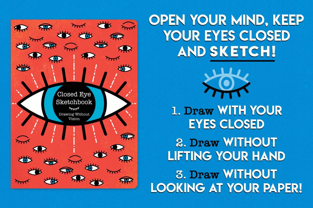 Closed Eye Sketchbook Graphic